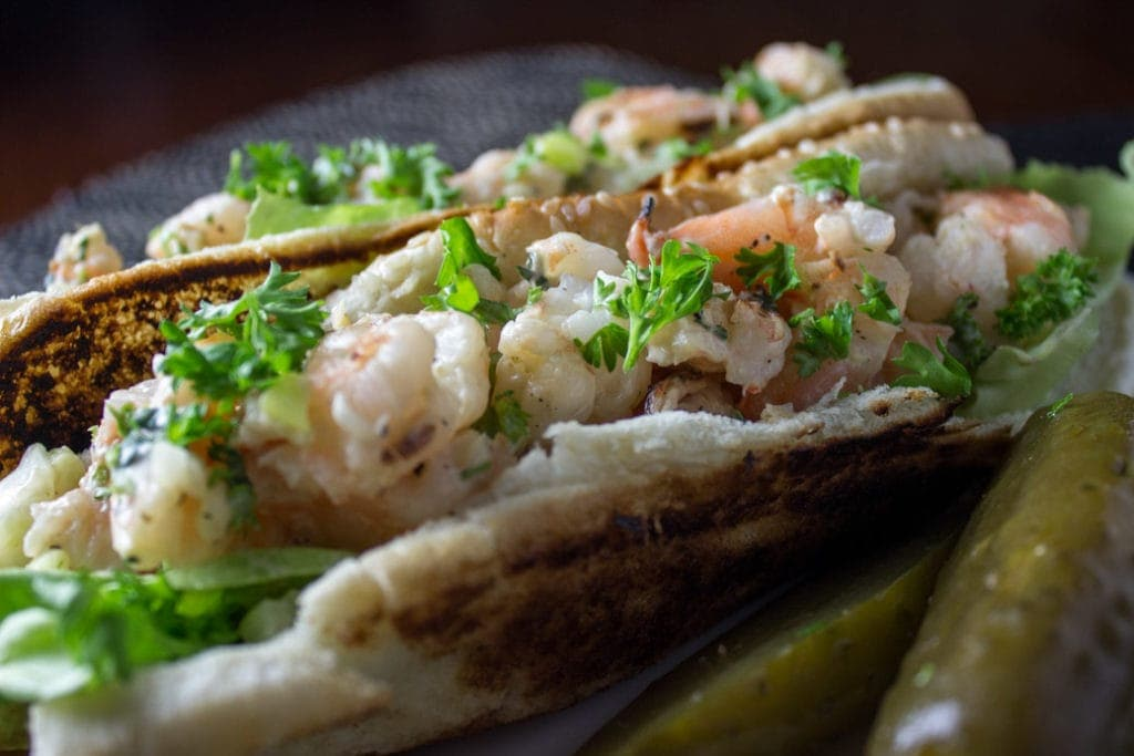 Grilled Shrimp Rolls. Plump morsels of shrimped dressed up in a buttery roll. Yum!