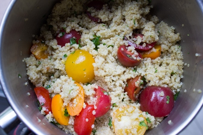 quinoa with tomatoes