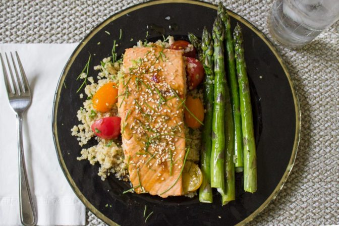 Easy Maple Lime Salmon.