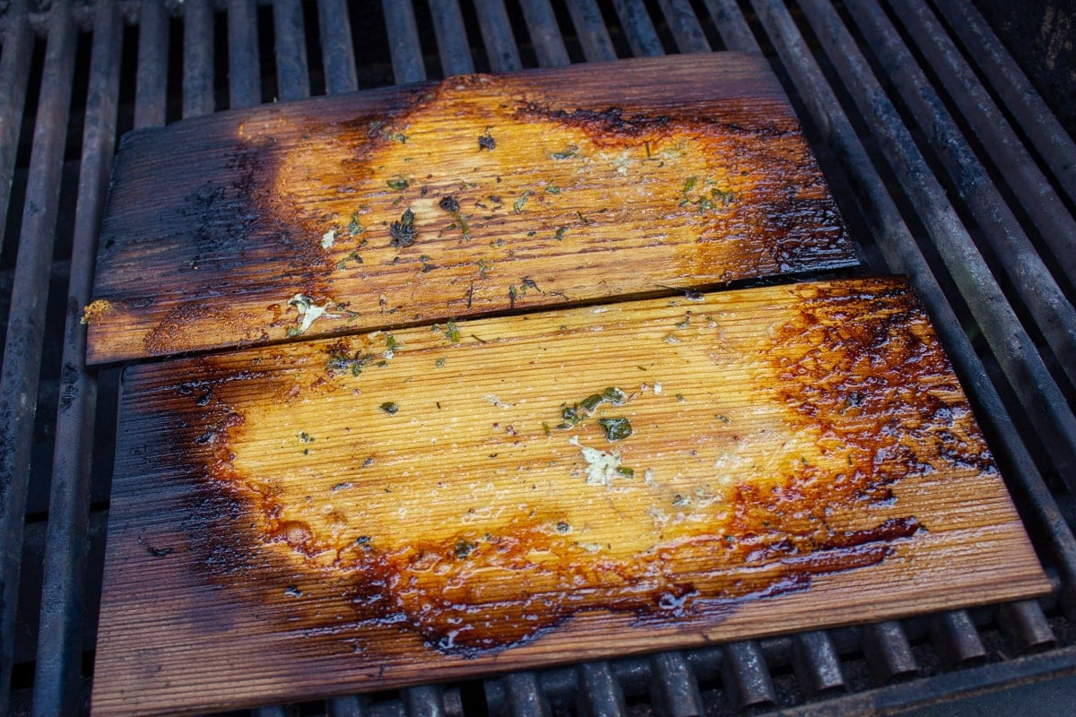2 empty planks after grilling