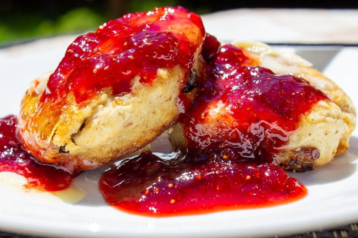 Strawberry Jam on scones