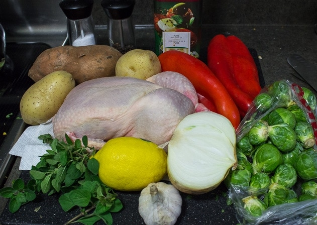 One Pan Roast Chicken and Vegetables ingredients