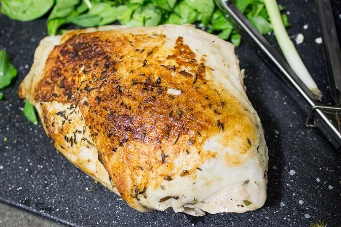 Succulent sous vide turkey breast