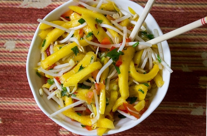 fresh mango salad