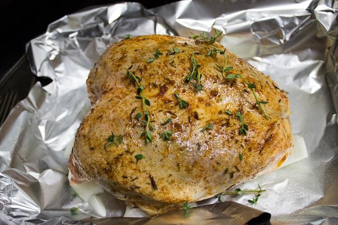 Easy Elegant Roast Chicken Breast and Gravy