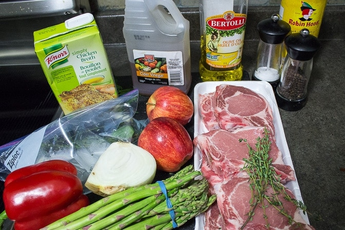 Skillet Pork Chop Dinner ingredients