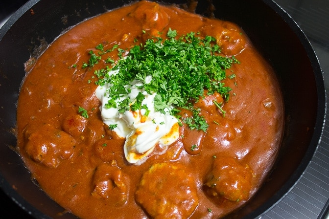 Chicken Paprikash Meatballs