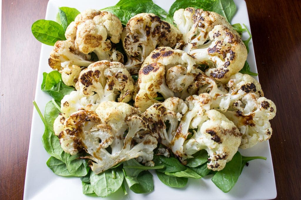 Roasted Cauliflower With Orange-Balsamic Drizzle - a wonderful easy. jazzed up crowd pleasing side dish