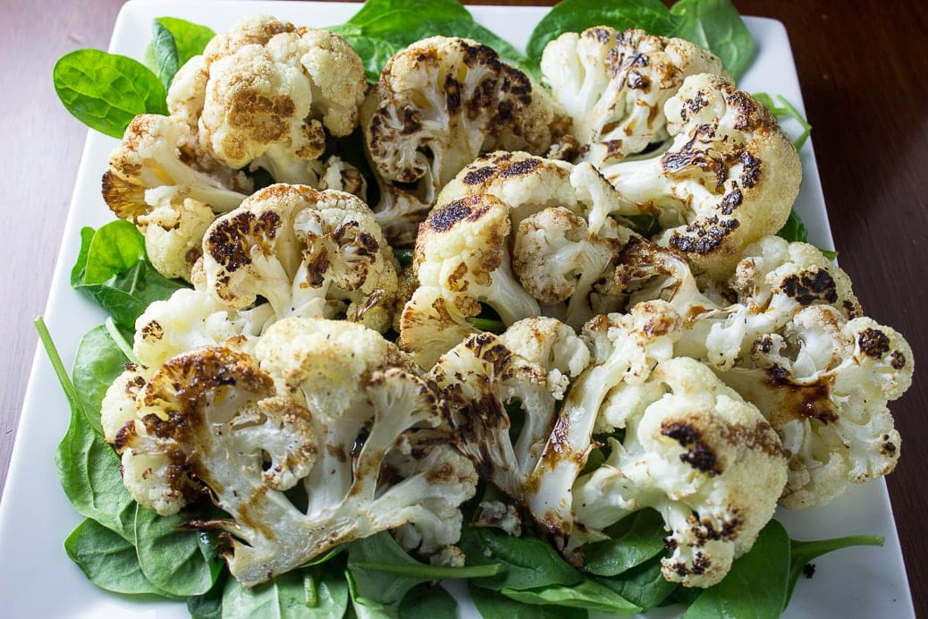 Roasted Cauliflower With Orange-Balsamic Drizzle