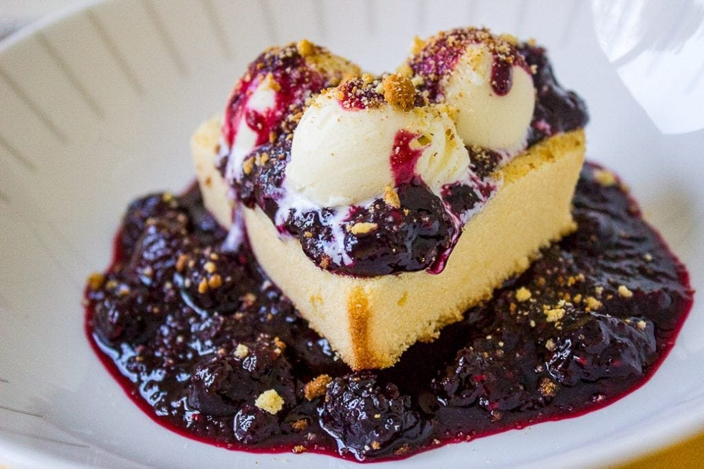 Pound Cake With Berry Sauce (the easy way). Perfect for Valentines Day or company, a low fuss dessert and looks and tastes amazing.