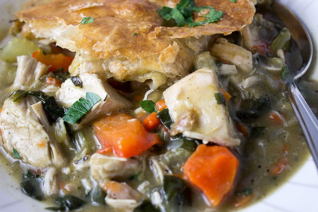 Skillet Chicken Vegetable Pot Pie