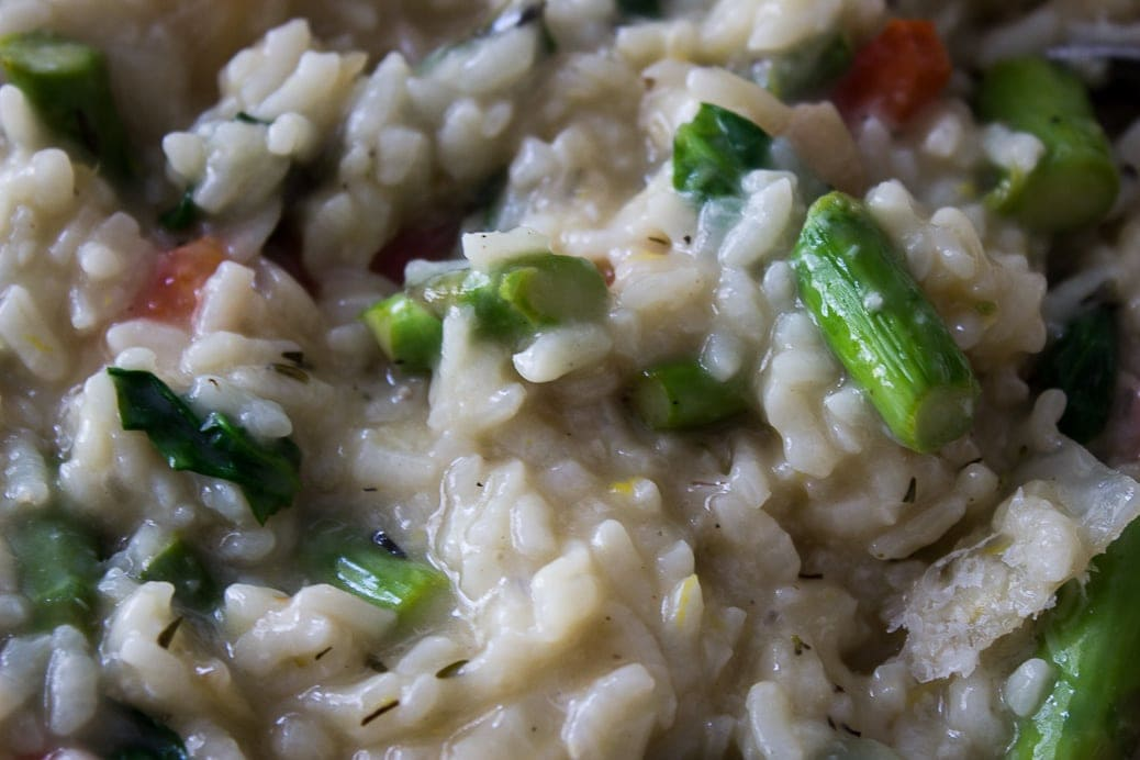 Lemon Risotto with Grilled Vegetables (Instant Pot)