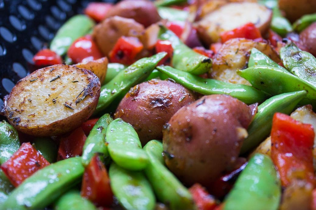 Grilled Potato Vegetable Hash