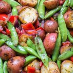 grilled veggies and potatoes in grill basket p2