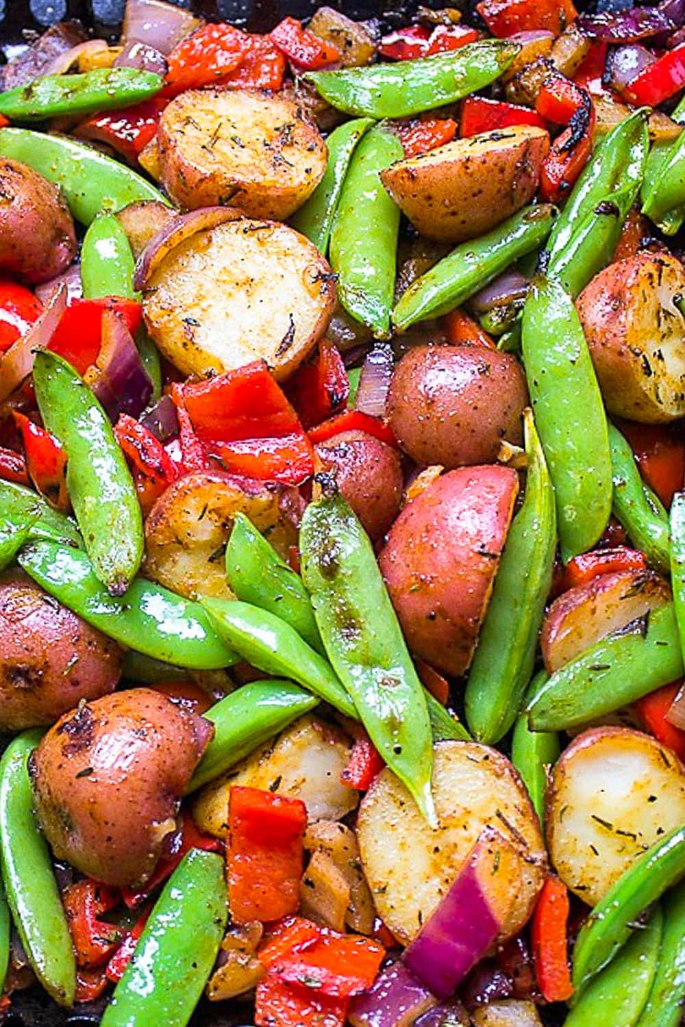 grilled veggies and potatoes in grill basket p1