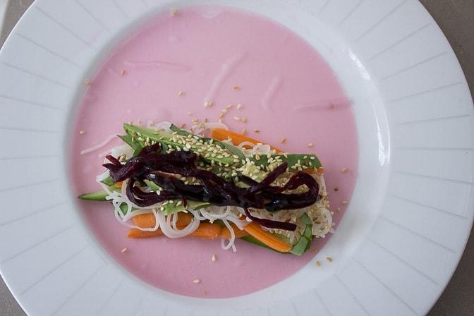 Pink Summer Vegetable Rolls
