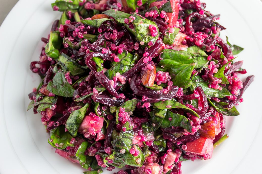 Vibrant Beet, Spinach and Quinoa Salad