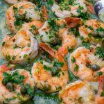 Shrimp Piccata in a pan p4