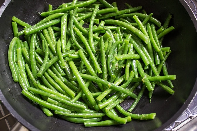 Green Beans with Lemon-Garlic Panko Crumbs