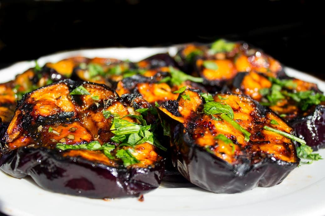 Sweet & Tangy Grilled Eggplant