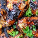 Grilled Chili Lime Chicken Wings on cutting board p1