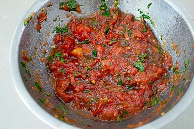 Parmesan Polenta with Herbed Tomatoes