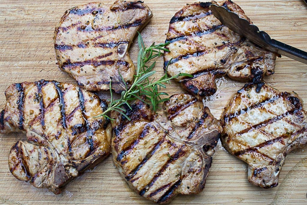 Marinated Quick Grilled Pork Chops