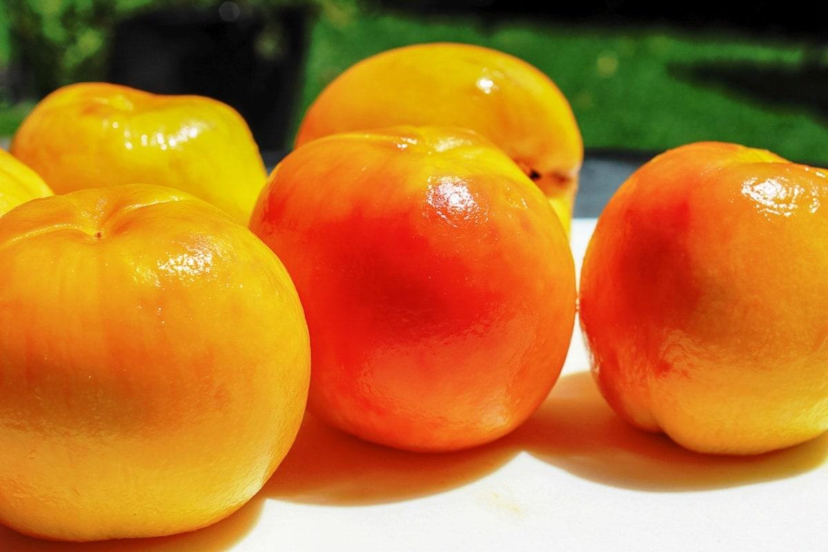 peeled whole peaches