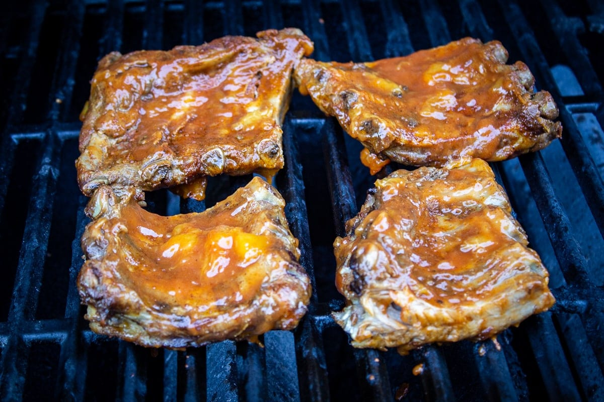 ribs on grill