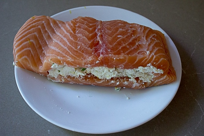 Salmon Stuffed With Lemon Ricotta
