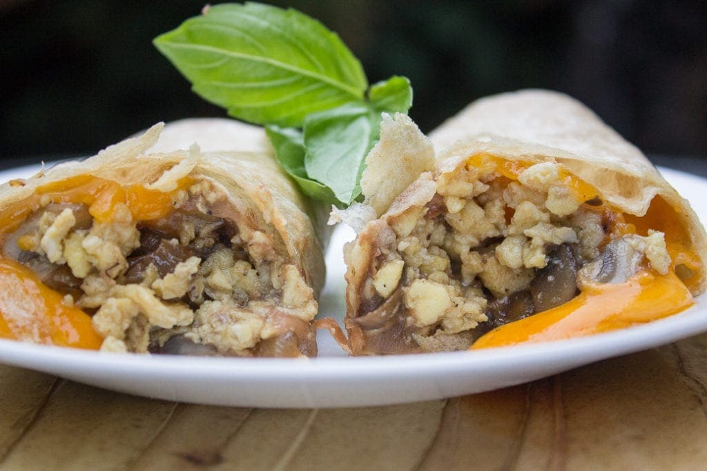 Make-Ahead Breakfast Burritos with Caramelized Onions