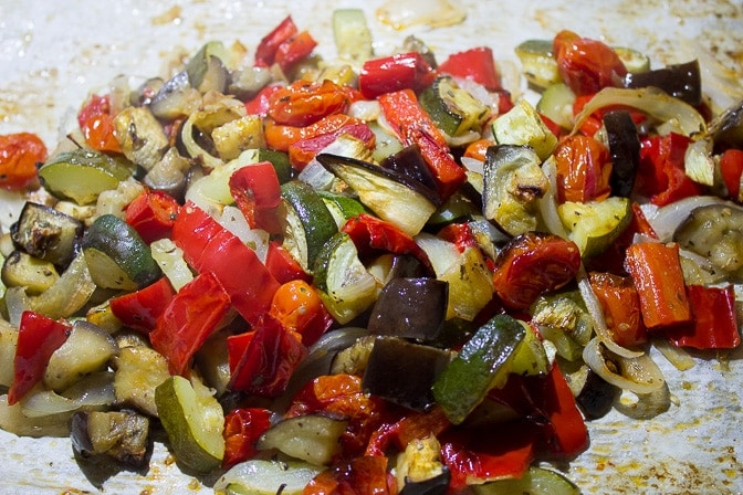Spaghetti Squash With Roasted Vegetables