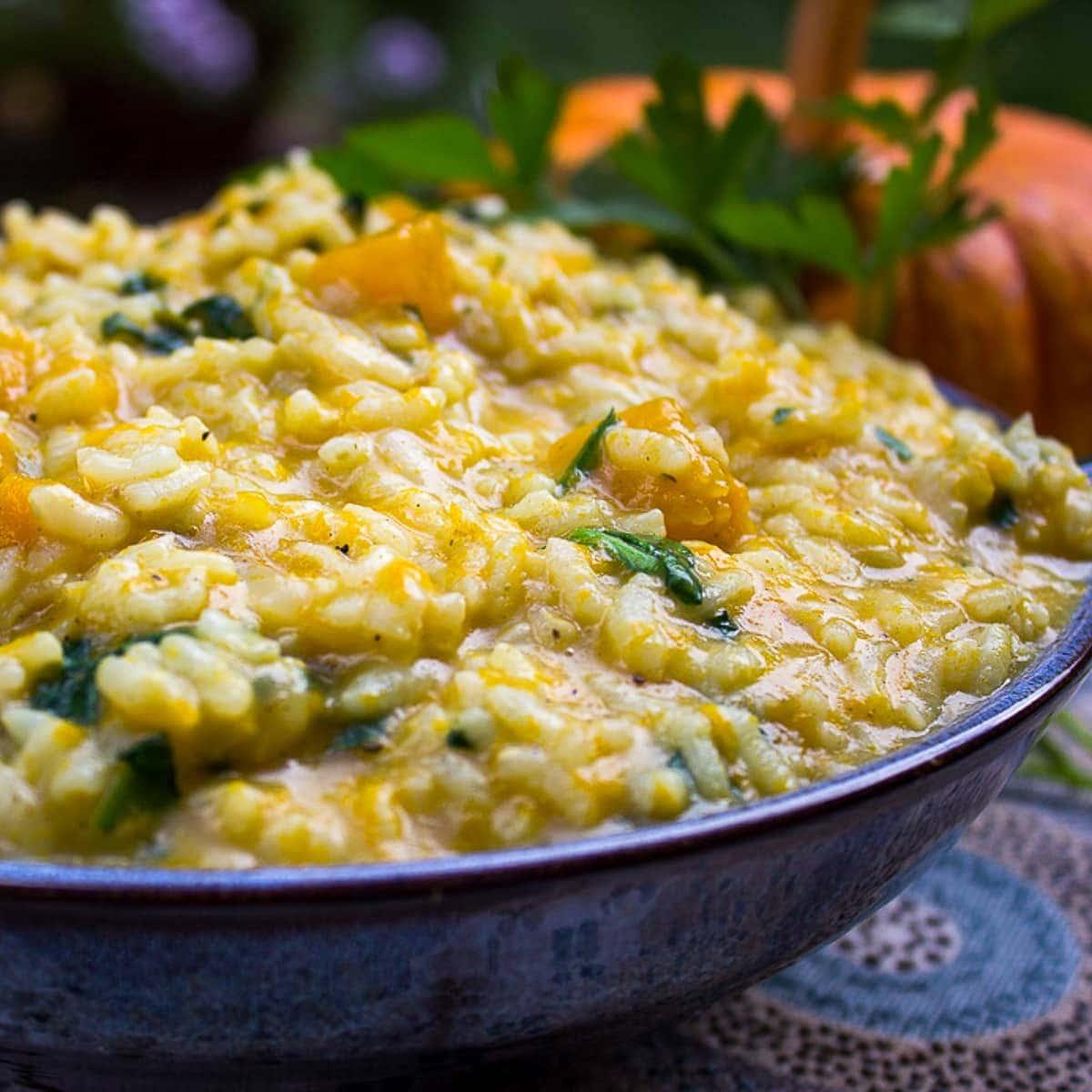 Pumpkin Risotto Recipe (Instant Pot)