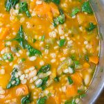 vegetable bean and barley soup in a pot p4