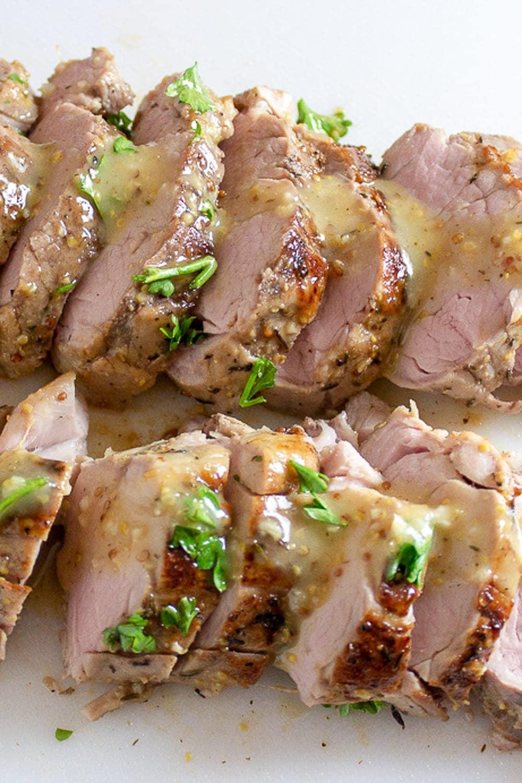 Sous Vide Pork Tenderloin Recipe - Maple Mustard | Two Kooks In The Kitchen