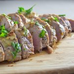 sous vide maple mustard pork tenderloin
