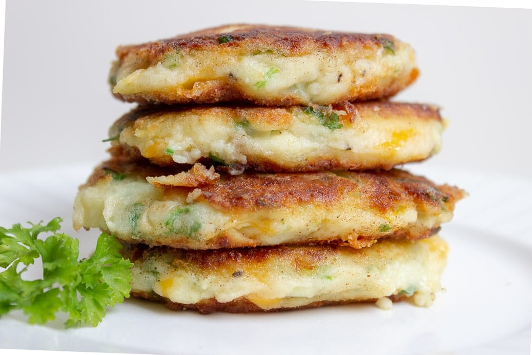 mashed potato pancakes (latkes)