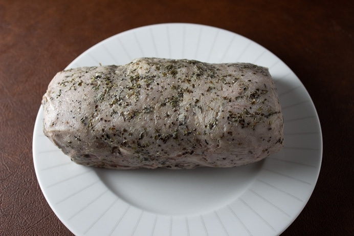 Sous Vide Pork Loin with Raspberry Balsamic Sauce