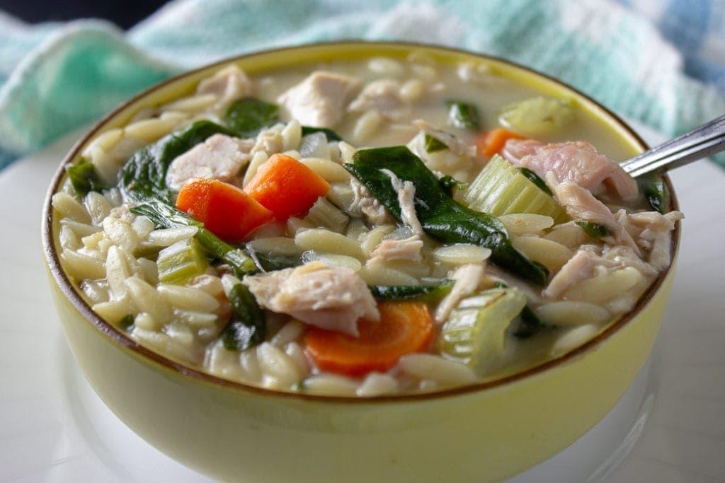 Chicken Lemon Orzo Soup