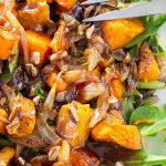 Butternut Squash Salad with Warm Cinnamon Dressing on plate p4