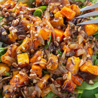 Butternut Squash Salad with Warm Cinnamon Dressing