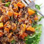 Butternut Squash Salad with Warm Cinnamon Dressing on plate p5