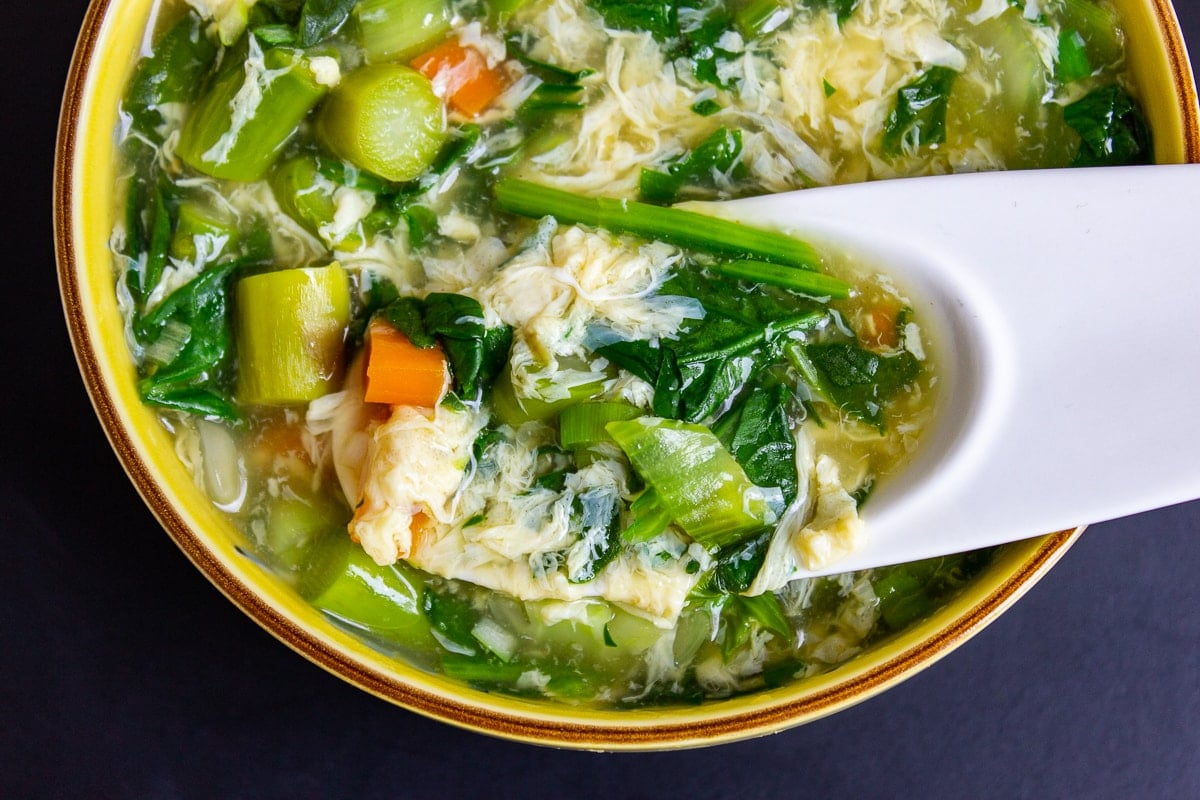 Easy Egg Drop Soup with Vegetables