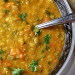 red lentil vegetable soup in bowl p 1