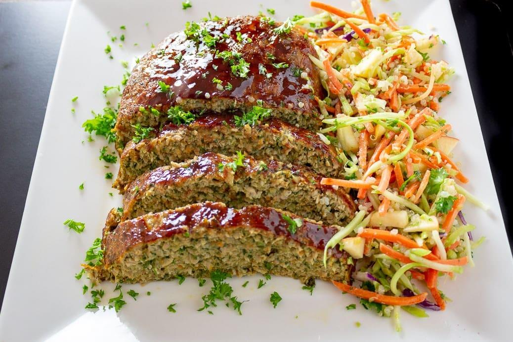 Chicken Meatloaf with Vegetables