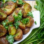 Indian potatoes in bowl