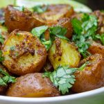 Indian potatoes in bowl 2