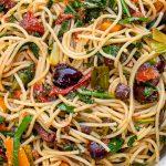 Mediterranean pasta in bowl p1