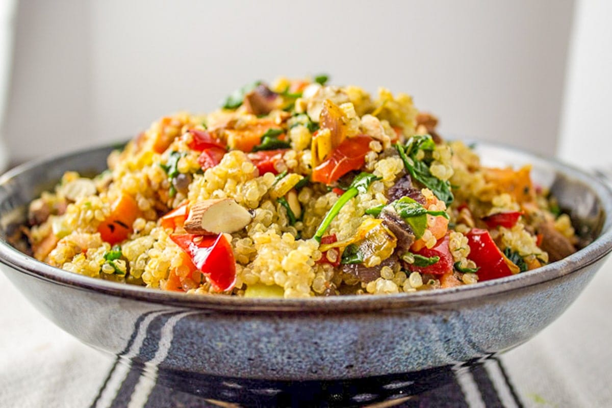 quinoa stuffing in bowl 1