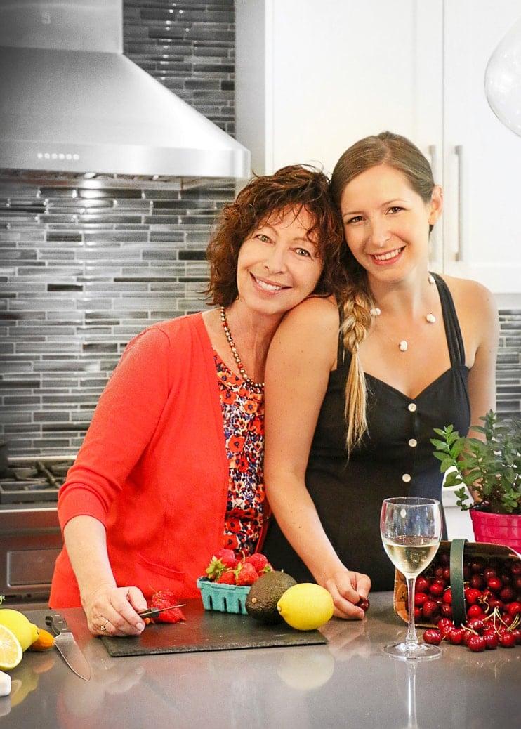 Cheryl and Jenna in kitchen